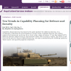 Stephan De Spiegeleire's 'Ten Trends in Capability Planning for Defence and Security'
